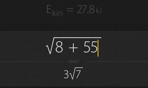Archimedes is a free graphing calculator app for iOS & Android that can calculate exact roots