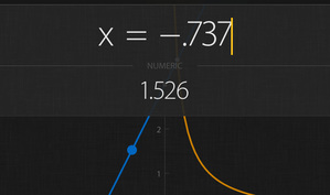 Archimedes is a free graphing calculator app for iOS & Android that allows you to manually enter input values for trace, differentiate and integrate